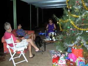 Paul, Larry and me chatting on the back veranda Xmas 2004