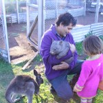 explaining to his daughter Eva about  the importance of protecting our native animals