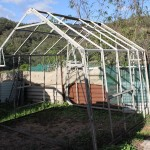 Larry doesn't like wasting anything so he built a 2nd green house  - a bit smaller